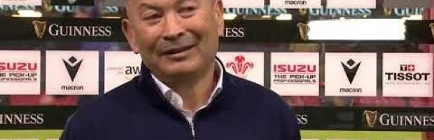 Eddie Jones reacts to England's defeat in Cardiff.